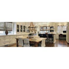 Suspendu en bois couleur naturel avec accent de métal bronze, idéal pour salle a manger, entrée et escalier.