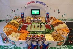 This is another amazing stadium. It was built out of cardboard as well as spice racks for the stairs. Genius.