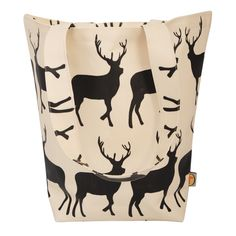 Anorak Kissing Stags Canvas Shopper