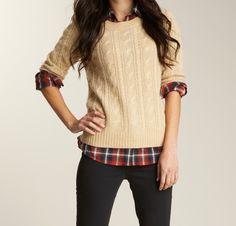 Geblokte blouse is ook erg leuk