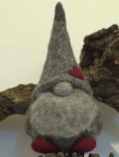 Felted grandpa  Christmas gnome Christmas ornament by Petradi, $35.00