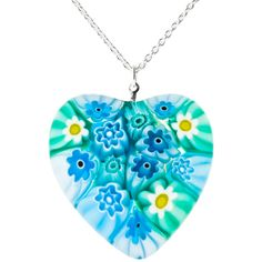 Venetian Murano Heart Pendant in stock at Murano Glass Jewelry