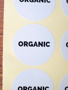 Organic sticker white glossy paper black by ctdscraftsupply Food Stickers, Organic, Ink, Paper, Unique Jewelry, Handmade Gifts, Etsy, Vintage, Black