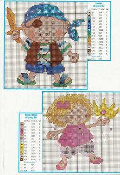 It's simple, free and blazing fast! Cross Stitch Sea, Cross Stitch For Kids, Cross Stitch Needles, Cross Stitching, Cross Stitch Embroidery, Cross Stitch Patterns, Pirate Nursery Themes, Stitch Doll, Stitch Cartoon