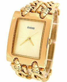 GUESS Mod Heavy Metal Gold U12648L1 GUESS. $99.95. 10 Year Limited Warranty. Watch. Water resistant. Women's trends. Chain-link bracelet