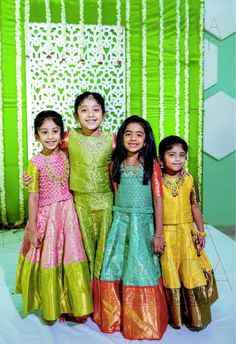 Indian Dresses For Kids, Kids Indian Wear, Kids Ethnic Wear, Indian Outfits, Baby Boy Dress, Baby Girl Party Dresses, Little Girl Dresses, Dress Girl, Baby Girl Fashion