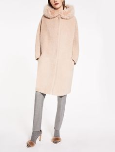 "Alpaca and wool coat, powder - ""KIRSCH"" Max Mara"
