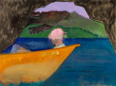 Peter Doig, Cave boat bird painting, 2010-2012