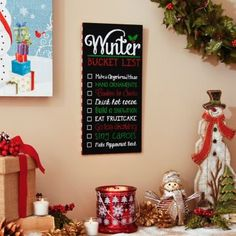 Make some holiday memories with the Winter Bucket List Plaque! #Kirklands #HollyJolly #holidaydecor