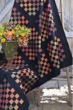 = free pattern =  Pumpkin Patch plaids quilt at Andover Fabrics