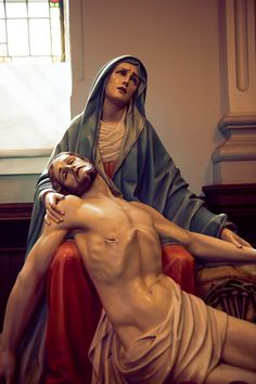 Jesus in the arms of Mary. A deeply beautiful statue.