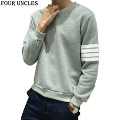 2016 Autumn&Winter Men and Women Couple Pullovers Long Sleeved O-Neck Casual Sweatshirts Striped Fashion Brand Hoodies SL0739