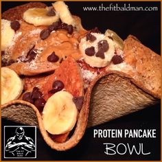 protein pancake bowl - THE FIT BALD MAN