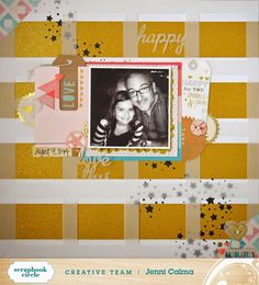 paper C A R D inal: Love ABSOLUTELY - Scrapbook Circle GOLD