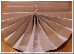 DIY Pull-Up Paper Fan Window Shade Tutorial: Make pull-up window shade using wall paper, in the same or matching pattern or color with room. Cardboard Paper, Window Treatments, Blinds, Home Appliances, Diy Projects, Shades, Windows, Holiday Decor, Interior