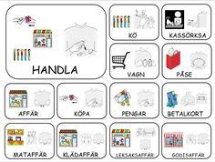 Sign Language Book, Learn Swedish, Swedish Language, Preschool, Tack, Montessori, Studio, Communication, Elephants