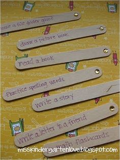 "Popsicle sticks for an ""I'm Done"" jar...Students pull a stick when they finish early"