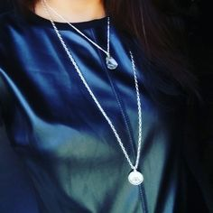 "18"" Silver Chain with Quartz Charm 32"" Silver Chain with Signature Initial & Swarofski Crystal Sold Separately Handmade by U.BE.U. FASHION"