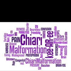 I have Chiari malformation type I.  Diagnosed in 1993.  In my case, even though I was born with it, it appears to be acquired rather than congenital.  There is no cure, there is only the hope that the symptoms can be treated successfully.