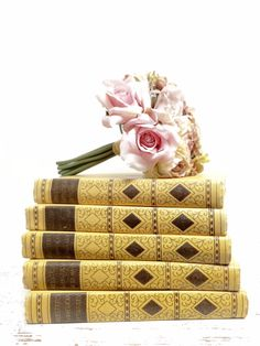 Gold and Mocha Book Set  by beachbabyblues