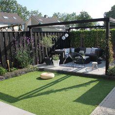 Garden Design For Kids .Garden Design For Kids Backyard Seating, Backyard Patio Designs, Backyard Garden Landscape, Backyard Landscaping, Back Garden Design, Hot Tub Garden, Big Garden, Sloped Garden, Garden Makeover