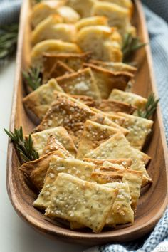Rosemary Sea Salt Crackers. These easy homemade crackers are the perfect addition to your cheese plate, or just to have on hand for snacking. Also, how to make a killer cheeseplate with ingredients from the regular grocery store!