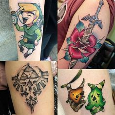 Official VideoGameTattoo Page ( Legend Of Zelda Tattoos, Anime Tattoos, Plugs, Tattoo Ideas, Photo And Video, Videos, Photos, Instagram, Pictures
