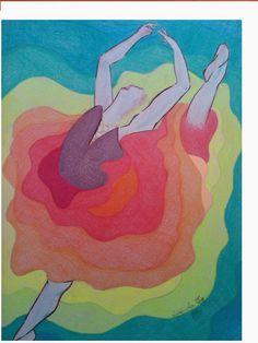 Rosângela Vig Arte com lápis e em telas : na ponta do pé, lápis de cor