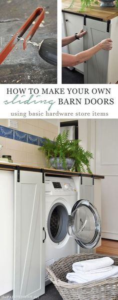 Barn doors today are becoming part of interior decoration in many houses because they are stylish. When building a barn door on your own, barn door hardware kit Mini Barn, Interior Barn Doors, Sliding Doors, Door Hinges, Diy Sliding Barn Door, Diy Door, Home Projects, Sewing Projects, Diy Furniture