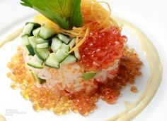 Fancy Sushi with Shoyu Jelly Recipe Details, Caviar, Risotto, Jelly, Sushi, Meat, Ethnic Recipes, Fancy, Japanese