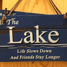the Lake. Life slows down and Friends stay longer ♥