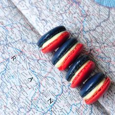 macarons francais bleu blanc rouge from Mardi of  Eat. Live. Travel. Write