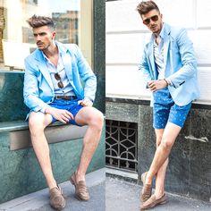 Gian Maria Sainato - Pepe Jeans, Salvatore Ferragamo, Tod's, Celebshades - LIGHT BLUE