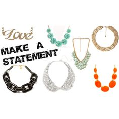 Make a Statement #jewelery #fashion #style