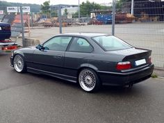 Fjordgrau BMW e36 coupe on OEM BMW Styling 5 (BBS RC) wheels