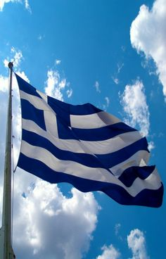 Greek flag by Stathis on DeviantArt Greek Independence, Greece Flag, Karpathos Greece, Greek Beauty, Flags Of The World, Tumblr Photography, Macedonia, Greek Islands, Beautiful Places