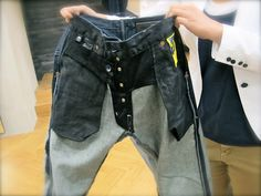 Wash your jeans inside out to reduce the original color from fading.