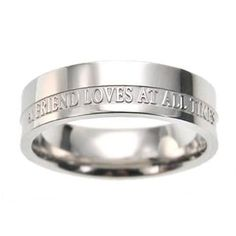 """Christian Women's Stainless Steel Absitnence """"A Friend Loves At All Times"""" Proverbs 17:17 Comfort Fit 6mm Chastity Ring for Girls - Girls Purity Ring Spirit & Truth,http://www.amazon.com/dp/B004OAH942/ref=cm_sw_r_pi_dp_jpf2rb1WF6RF6G9K"""
