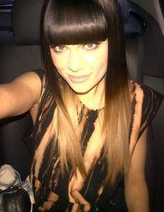 Love Jessie J's blonde dip-dye hair
