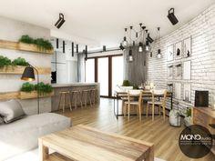 Nasz pomysł na otwarty, pełny światła salon!  Więcej o nas znajdziesz na www.monostudio.pl oraz facebook Projektowanie WNĘTRZ pod klucz MONOstudio.pl