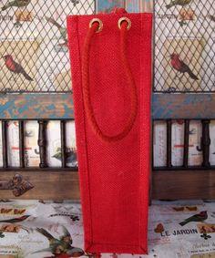 Single Bottle Jute Wine Bags / Burlap Wine Bags with Rope Handles Burlap Tote, Burlap Fabric, Jute Bags Wholesale, Small Jute Bags, Make Your Own Wine, Wine Tote, Gift Bags, Screen Printing, Red