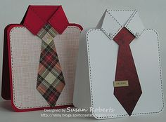 Tips and Tutorials » Rainy Day Creations » Page 4 **** Susan Roberts Shirt card with written instructions & pictures.