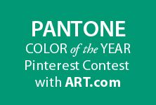 We have a fun Pinterest contest for all of you PANTONE Color of the Year enthusiasts! Pantone & Art.com are teaming up to bring you a colorful, Emerald-inspired contest.