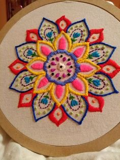 Mandala Cross Stitch, # cross-stitch samples # mandalaned and samples . Hand Embroidery Videos, Hand Embroidery Flowers, Hand Embroidery Stitches, Crewel Embroidery, Mexican Embroidery, Hand Embroidery Designs, Embroidery Hoop Art, Cross Stitch Embroidery, Machine Embroidery
