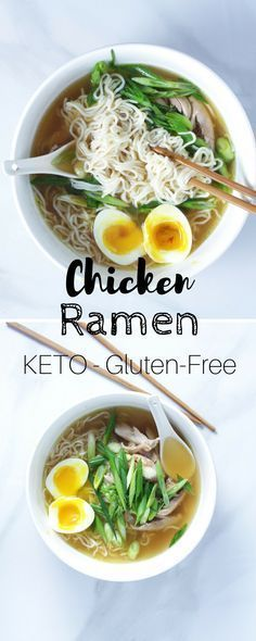 Keto Chicken Ramen - This low-carb ramen recipe requires very little work and is immensely satisfying.Easy Keto Chicken Ramen - This low-carb ramen recipe requires very little work and is immensely satisfying. Ketogenic Recipes, Low Carb Recipes, Diet Recipes, Healthy Recipes, Healthy Soup, Ketogenic Diet, Healthy Foods, Recipes Dinner, Dessert Recipes