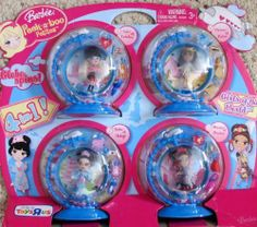 """Barbie Peek-a-Boo Petites GIRLS of The WORLD DOLLS 4-In-1 w LEA of London, TAKA of Tokyo, CHIONE of Cairo & MARIA of Mexico TOYS""""R""""US Exclusive (2008) by Mattel. $38.88. Package approx. 16' wide x 13-1/2"""" tall x 2-1/2"""" deep (deepest part). For Package Condition see CONDITION NOTE or Email Seller for Details.. Each Doll in plastic """"Globe"""" shape Case each Case approx. 5"""" high x 5"""" wide, & oval Case Base approx. 3-1/2"""" long x 1-3/4"""" wide (widest part) & Globes Spins! C..."""