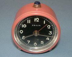 Vintage 1960s Retro Swiss Made EBOSA Alarm Clock