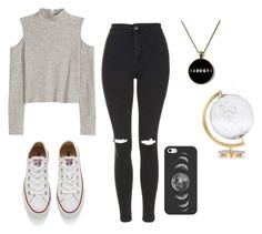 """""""Sans titre #29"""" by disappear-smile ❤ liked on Polyvore featuring Topshop, Converse, Casetify and SecondoMe"""