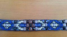 Bracelete étnico azul miçangas