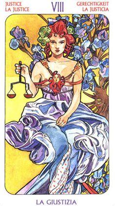 Tarot Art Nouveau ► Justice